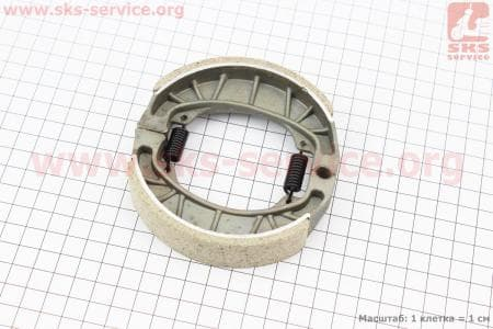 Колодки тормозные передние (пружины прямые) к-кт  для мопедов Delta (Viper) купить в Украине