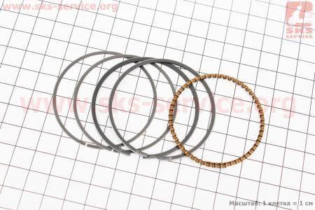 Кольца поршневые 110сс 52,4мм +0,25 для мопедов Delta (Viper) купить в Украине