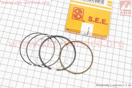 Кольца поршневые 110сс 52,4мм +0,50 желтая коробка для мопедов Delta (Viper) купить в Украине