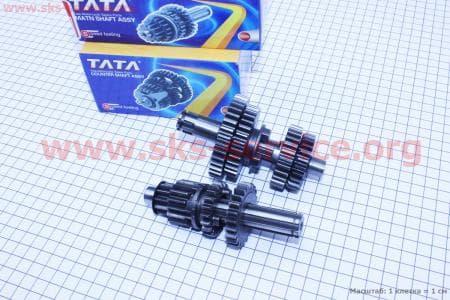 Коробка передач (два вала с шестернями) d-14мм под сепаратор для мопедов Delta (Viper) купить в Украине