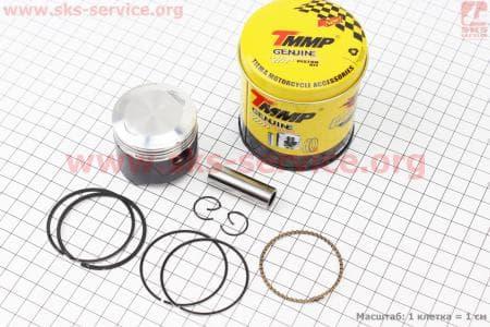 Поршень, палец, кольца к-кт 70сс 47мм +0,25 (тефлоновое покрытие) для мопедов Delta (Viper) купить в Украине