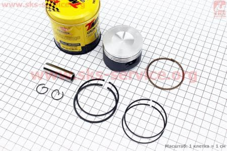 Поршень, палец, кольца к-кт 110сс 52,4мм STD (тефлоновое покрытие) для мопедов Delta (Viper) купить в Украине