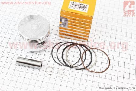 Поршень, палец, кольца к-кт 110сс 52,4мм +0,25 для мопедов Delta (Viper) купить в Украине