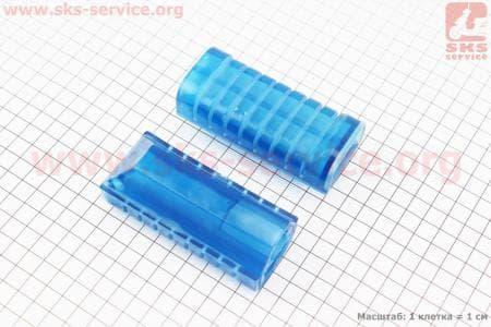Резинка подножки для ног ALPHA к-кт 2шт, синий для мопедов Delta (Viper) купить в Украине