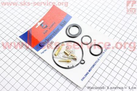 Ремонтный к-кт карбюратора 110сс, 16 деталей для мопедов Delta (Viper) купить в Украине