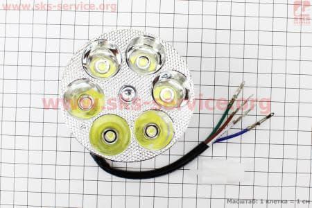 Фары круглой внутренняя часть 6-LED, 80мм, TUNING для мопедов Delta (Viper) купить в Украине