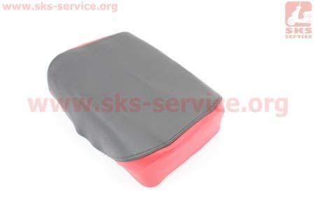 Чехол сидения заднего узкого, 210мм (эластичный, прочный материал) черный/красный для мопедов Delta (Viper) купить в Украине