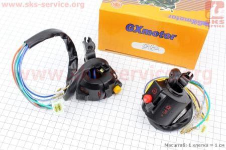 Блок кнопок на руле левый, правый к-кт без рычагов для мопедов ALPHA (Viper) купить в Украине