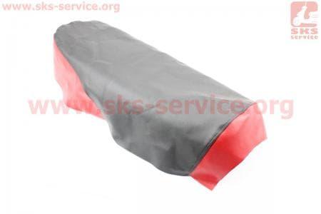 Чехол сиденья (эластичный, прочный материал) черный/красный для мопедов ALPHA (Viper) купить в Украине