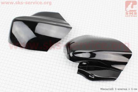 пластик - вставки переднего крыла лев., прав к-кт 2шт, ЧЕРНЫЙ, тип. 2 для мопедов Active (Viper) купить в Украине