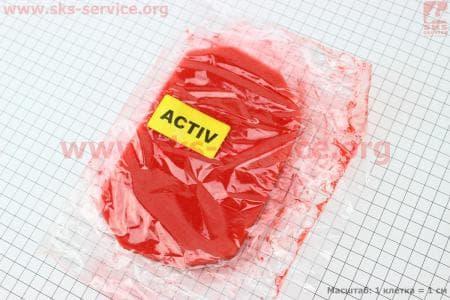 Фильтр-элемент воздушный  с пропиткой (поролон), красный для мопедов Active (Viper) купить в Украине
