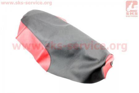 Чехол сиденья (эластичный, прочный материал) черный/красный для мопедов Active (Viper) купить в Украине