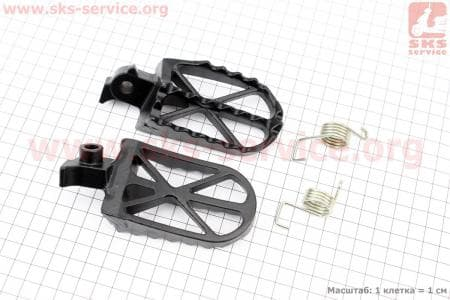 Подножки передние + пружины кт 4шт для мопедов ПИТБАЙК - PIT BIKE Viper V125P (ENDURO) купить в Украине