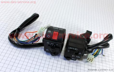 Блок кнопок на руле правый, левый к-кт 2шт для мотоцикла VIPER 125-200сс купить в Украине