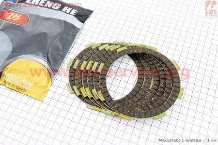 Диск сцепления фрикционный 6шт к-кт 150/200сс для мотоциклетных двигателей CG125-200cc купить в Украине