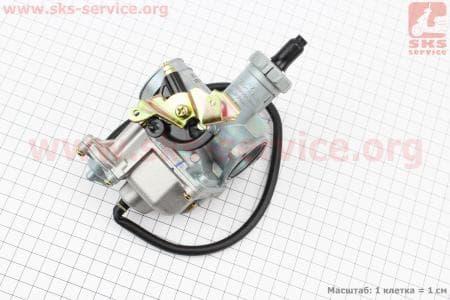 Карбюратор СВ/CG-200 (дросель ручной) с ускорительным насосом для мотоциклетных двигателей CG125-200cc купить в Украине