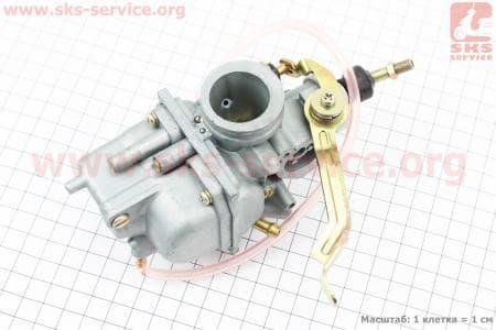 Карбюратор в сборе YBR125 (дросель ручной) тип. 1 для мотоцикла  JIANSHE YB125 / Yamaha - YBR125 купить в Украине