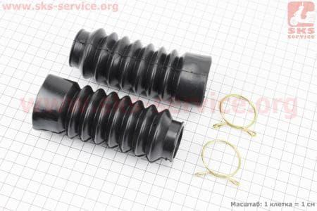 Гофра амортизатора переднего d=30/45mm; L=125mm к-кт 2шт, ЧЕРНЫЙ купить в Украине