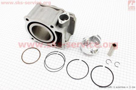 CB250-OHC Цилиндр к-кт (цпг) 250cc - 69мм - водяное охлаждение купить в Украине