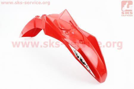 Loncin- LX250GY-3 пластик - крыло переднее, КРАСНЫЙ купить в Украине