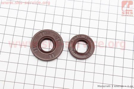 Сальник (15x35x4,5 + 15x28x4,5) к-кт 2шт (коричневые)для китайских бензопил