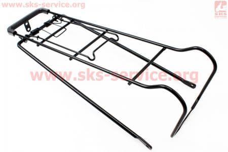 """Багажник 24"""" длинный, черный для велосипедов"""