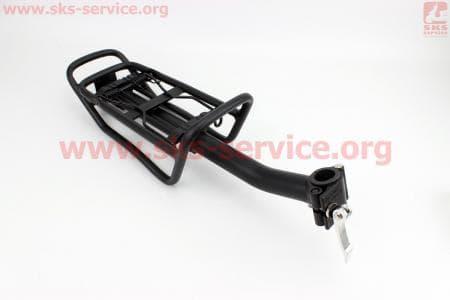 """Багажник 24 - 26"""" алюминий, цельносварной, крепл. за трубу сидения, черный  для велосипедов"""