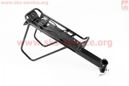 """Багажник 24 - 26"""" алюминий, цельносварной, крепл. за трубу сидения, черный NV-515 для велосипедов"""