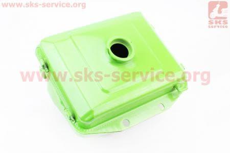Бак топливный R175A/R180NM, 260x190x160мм, выст. горловина, отверстие под шланг топливный + фара для мотоблоков