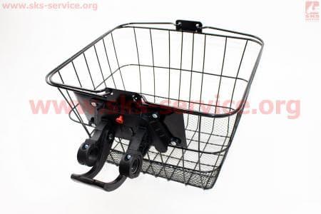 Корзина багажная на руль съемная, черная JL-CK095 для велосипеда