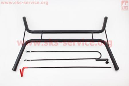 Подставка велосипедная под колесо складная, вертикальное или горизонтальное хранение велосипеда, черная