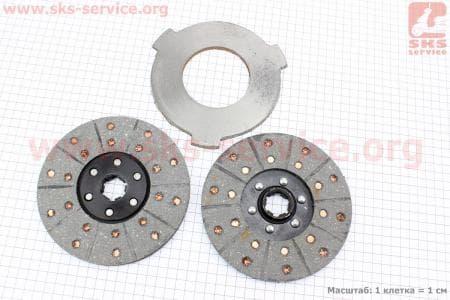 Диск фрикционный 2шт + диск промежуточный к-кт для мототрактора