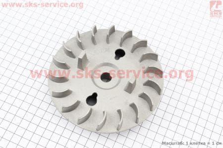 Крыльчатка (вентилятор) алюминевая 0,8кВт (ET-950) для генератора