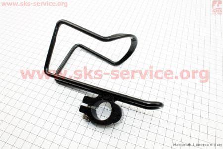Флягодержатель велосипедный алюминиевый, крепл. на руль, черный