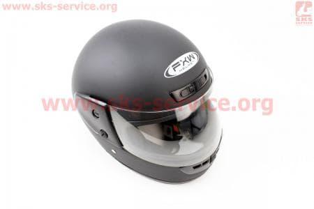 Шлем закрытый HF-101 M- ЧЕРНЫЙ матовый