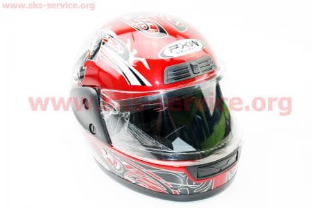 Шлем закрытый HF-109 S- КРАСНЫЙ Q09