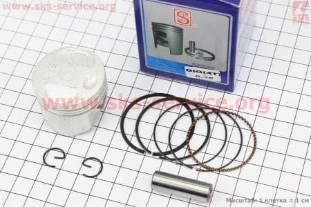 Поршень, кольца, палец к-кт Honda DIO AF56 38мм +0,75 (палец 10мм) синяя коробка