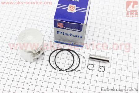 Поршень, кольца, палец к-кт Suzuki AD65 44мм STD синяя коробка (палец 10мм)