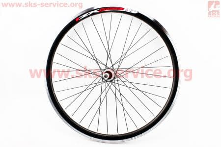 """Колесо велосипедное 24"""" заднее MTB """"капля"""" обод и втулка алюминиевые 14Gx36H в сборе, под вольнобег, крепл. гайка """"ZX Gravity"""""""