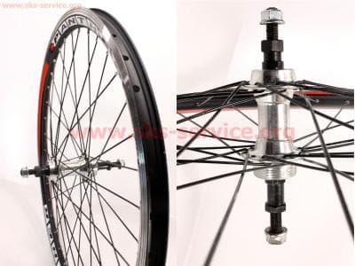 """Колесо велосипедное 24"""" заднее MTB """"капля"""" обод и втулка алюминиевые 14Gx36H в сборе, под вольнобег, крепл. гайка """"PANTHER"""""""