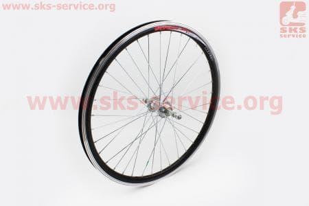 """Колесо велосипедное 24"""" заднее МТВ """"капля"""" обод алюминиевый, втулка 14Gх36Н в сборе, под вольнобег, крепл. гайка """"JITONG"""""""