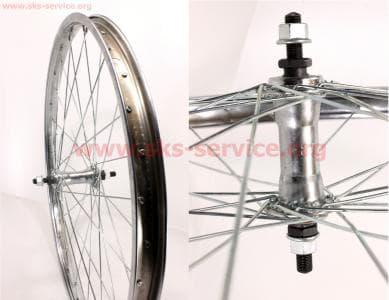 """Колесо велосипедное 24"""" переднее, втулка 14Gx32H в сборе"""