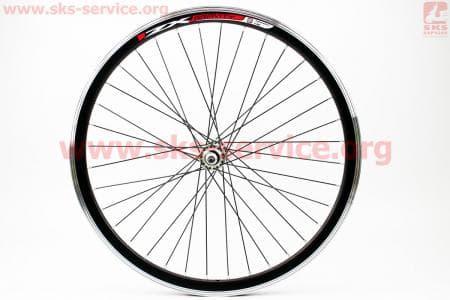 """Колесо велосипедное 24"""" переднее MTB """"капля"""" обод и втулка алюминиевые 14Gx36H в сборе, крепл. гайка """"ZX Gravity"""""""
