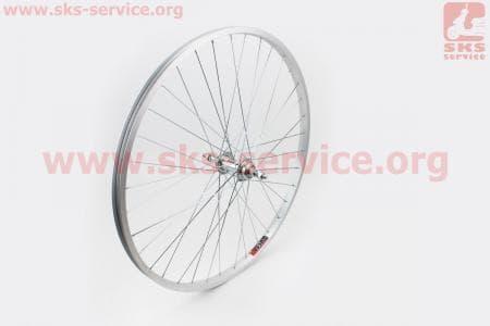 """Колесо велосипедное 26"""" заднее МТВ обод алюминиевый, втулка 14Gх36Н в сборе, под вольнобег, крепл. гайка"""