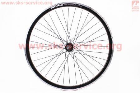"""Колесо велосипедное 26"""" заднее MTB """"капля"""" обод алюминиевый, втулка 14Gx36H в сборе, под вольнобег, диск. тормоз, крепл. гайка """"ZX Gravity"""""""