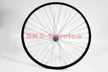 """Колесо велосипедное 26"""" переднее MTB обод и втулка алюминиевые 14Gx36H в сборе, крепл. гайка"""
