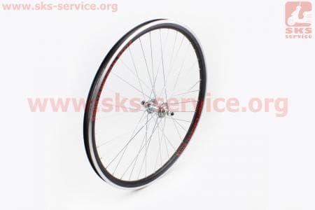 """Колесо велосипедное 26"""" переднее MTB """"капля"""" обод алюминиевый, втулка 14Gx36H в сборе, под диск. тормоз, крепл. гайка """"ТМК"""""""