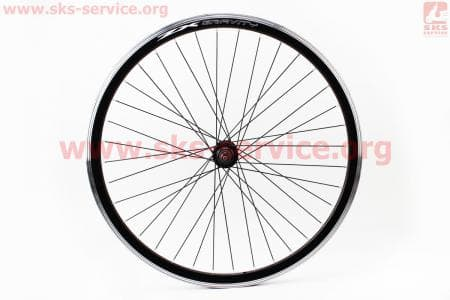 "Колесо велосипедное 26"" переднее MTB ""капля"" обод алюминиевый, втулка 14Gx36H в сборе, под диск. тормоз, крепл. гайка ""ZX Gravity"""