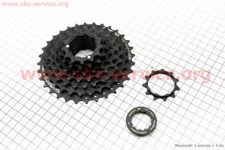 Кассета 8зв. 32,28,24,21,18,15,13,11Т, черная ACERA CS-HG31для велосипеда