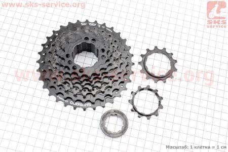 Кассета 9зв. 32,28,24,21,19,17,15,13,11Т, черная ACERA CS-HG200для велосипеда